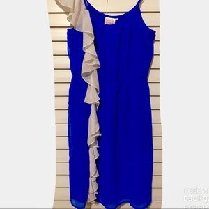 Varsity Fashion Spy Royal Ruffle Game Day Dress